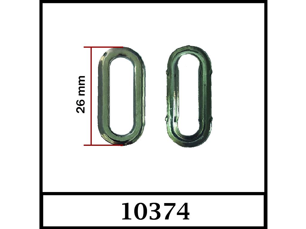 10374 - 12 mm / DIŞ ÖLÇÜ : 26 mm x 12 mm