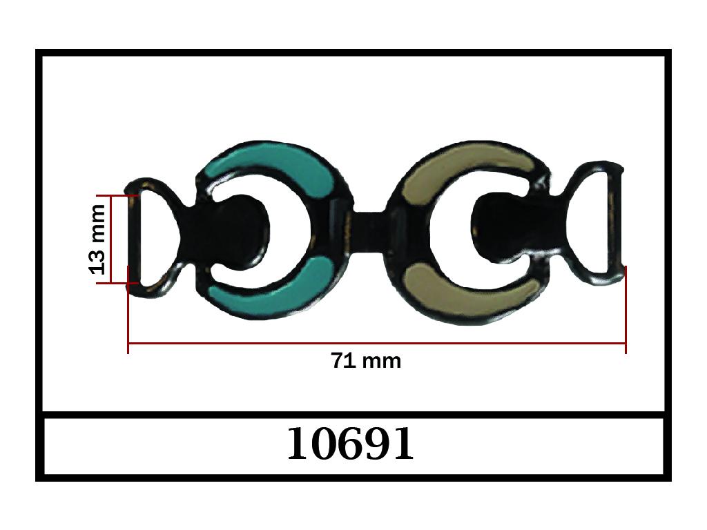 10691 - 13 mm / DIŞ ÖLÇÜ : 71 mm x 26 mm