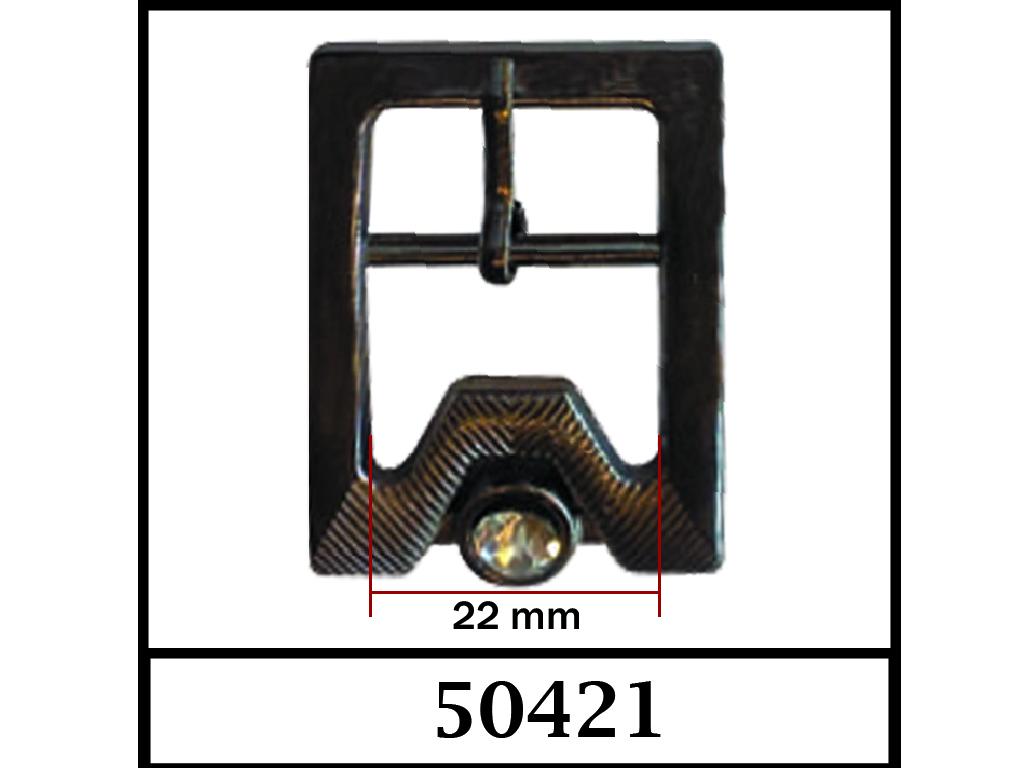 50421 - 22 mm / DIŞ ÖLÇÜ : 43 mm x 33 mm