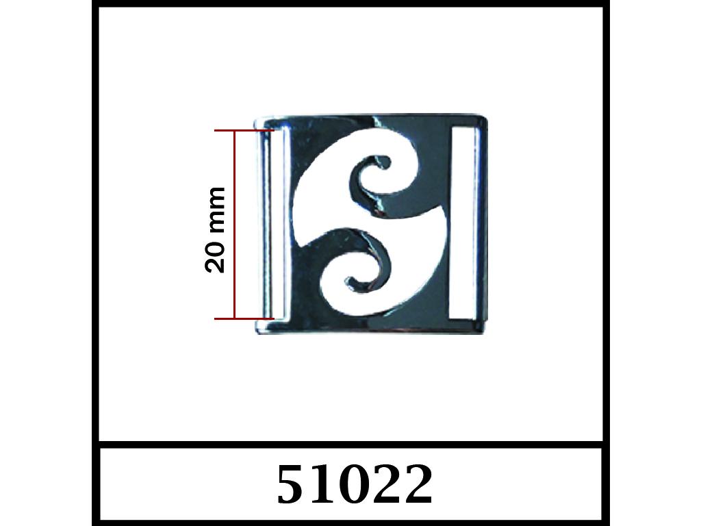 51022 - 20 mm / DIŞ ÖLÇÜ : 27 mm x 25 mm