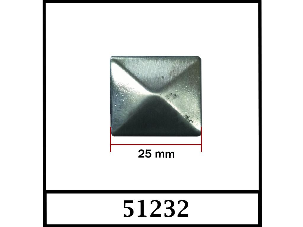 51232 / DIŞ ÖLÇÜ : 25 mm x 25 mm