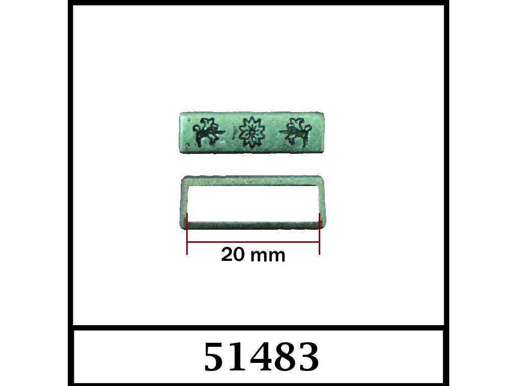 51483 - 20 mm / DIŞ ÖLÇÜ : 22 mm x 6 mm