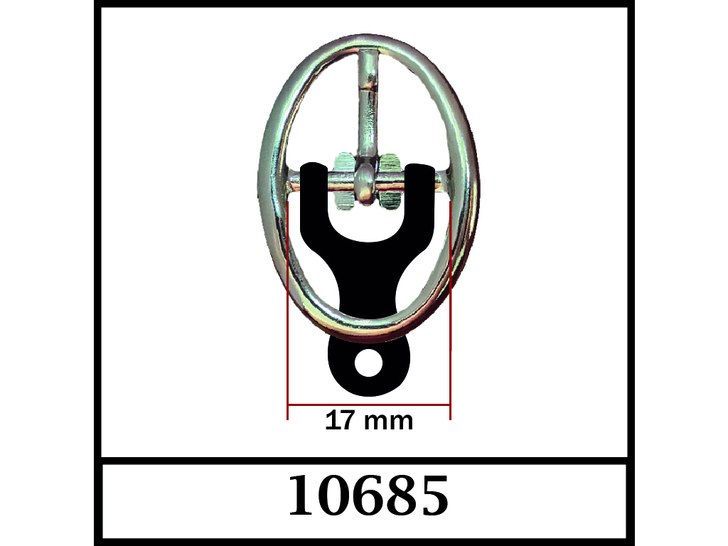 10685 - 17 mm / DIŞ ÖLÇÜ : 37 mm x 27 mm
